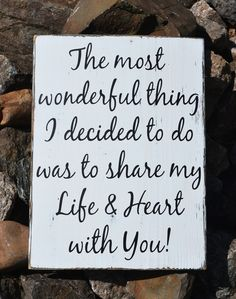Rustic Country Chic Wedding Sign The Most Wonderful Thing I Decided To Do Reclaimed Wood Hand Painted Wedding Sign, Master Bedroom Décor, Couples Anniversary Gift Love Quote Wall Art, Valentines Day Decoration Home Decor Wall A Rustic Wedding Signs, Rustic Wood Signs, Chic Wedding, Trendy Wedding, Valentine's Day Quotes, Love Quotes, New Home Quotes, Friend Quotes, Couple Quotes