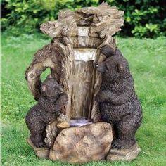 Bear Butte Resin Waterfall Sculptural Fountain