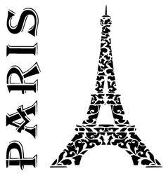 paris eiffel tower stencil