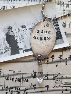 Check out this item in my Etsy shop https://www.etsy.com/listing/292176569/junk-queen-stamped-spoon-necklace