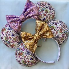 Your place to buy and sell all things handmade Diy Disney Ears, Disney Mickey Ears, Mickey Mouse Ears, Disney Diy, Disney Crafts, Disney Trips, Disney Parks, Disney Magic, Disney Headbands