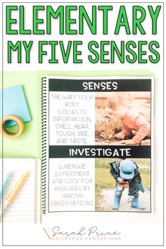 Teach your elementary students about their five senses with these fun activities and worksheets. Click the picture to learn more. 5 Senses Activities, Adjectives Activities, Apple Activities, Drawing Activities, Vocabulary Word Walls, Vocabulary Cards, My Five Senses, Second Grade Science, Teaching Materials