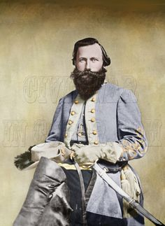 Stuart J. Stuart was known for his style, fighting with flair and a propensity for the dramatic American Civil War, American History, Native American, Civil War Art, Black And White People, Confederate States Of America, Us History, Ancient History, Civil War Photos