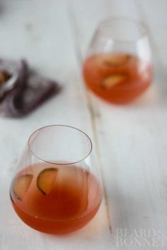 The perfect summer cocktail for a lazy afternoon! This Vanilla Plum Moscato is so good it is almost too easy to drink!