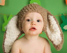 Über cute fuzzy floppy ear hat