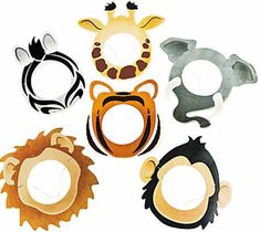 Jungle animal masks (large)