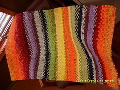 new rainbow twined rag rug