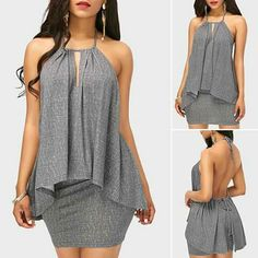 Cheap xl sheath grey Dresses online for sale Classy Dress, Classy Outfits, Casual Outfits, Fashion Outfits, Womens Fashion, Sexy Dresses, Cute Dresses, Casual Dresses, Sheath Dresses