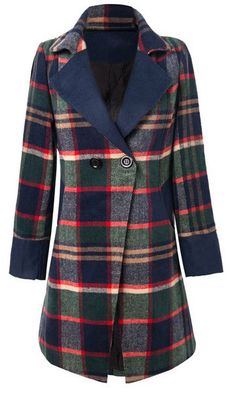 chic plaid coat