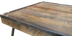 Industrial Steel Framed Square Reclaimed Wood Coffee Table – JW Atlas Wood Co.