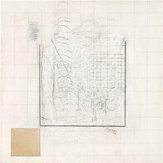 Robert Ryman. Untitled, 1962, graphite, pastel