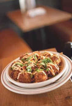 Loaded Housemade Tater Tots at 101 Beer Kitchen #columbus