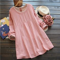 New arrival Mori Girl Dress Long sleeve Classical check dress cotton linen Dress DR 8 Free shipping-in Dresses from Women's Clothing & Accessories on Aliexpress.com | Alibaba Group