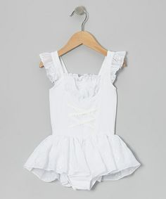 Take a look at this White Juliet Skirted Leotard - Toddler by AdoraBelle Dancewear on #zulily today!