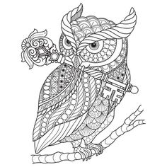 Everything about Watercolor Pencils for adults, Adult Coloring Books, Colored Pencil Techniques and Free Coloring Pages Owl Coloring Pages, Printable Adult Coloring Pages, Coloring Books, Colouring Pages For Adults, Coloring Tips, Mandala Coloring Pages, Animal Drawings, Art Drawings, Drawing Animals
