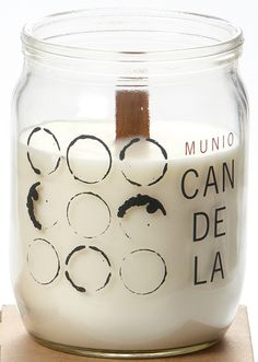 Candela Wooden Wick Soy Candles. They smell delicious and sound like a crackling fire! Plus, they come in recycled glass jars and have a long burn time.