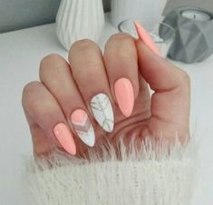 Stunning Designs for Almond Nails You Won't Resist; almond nails long or s… Stunning Designs for Almond Nails You Won't Resist; almond nails long or s… Fall Nail Designs, Acrylic Nail Designs, Colorful Nail Art, Almond Acrylic Nails, Acrylic Nails For Summer Almond, Acrylic Nails For Fall, Fall Almond Nails, Almond Nails Designs Summer, Album Design