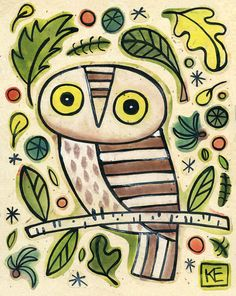 'Woodland Owl' by Kate Endle