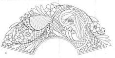 Cómo hacer abanicos de encaje de bolillos - PLANTILLAS ABANICOS BOLILLOS GRATIS - El Cómo de las Cosas Bobbin Lace Patterns, Sewing Patterns, Lacemaking, Lace Heart, Lace Jewelry, Diy Clothes, Lace Detail, Stencils, Butterfly