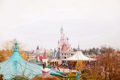 My favourite view of Fantasyland from the castle in Alice's Curious Labyrinth