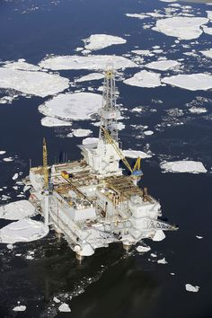 Beautiful image of #Offshore Oil Rig Inlet in Alaska - Winter.   Thanks to Mark for this image http://smu.gs/11oyLgO