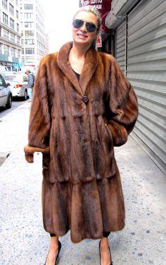New Imperial Silver Fox Fur Swing Coat Full Length Massive Hood ...