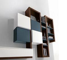 Furniture Interior Design: The Creative Side living room wall Wall Unit Decor, Bookshelves, Bookcase, Tv Rack, Living Area, Living Room, Furniture Inspiration, Interior Design, Creative