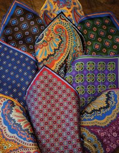 Printed pocket squares. Shop for your wedding trousseau, with a personal shopper & stylist in India - Bridelan, visit our website www.bridelan.com #Bridelan #Indiangroom