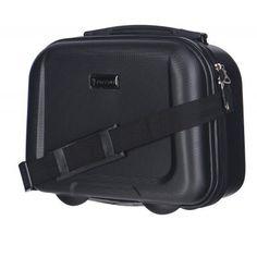 144f85dab4c2a Obstarajte si tento malý pevný kozmetický kufrík 14 litrový v čiernej farbe  z materiálu ABS od
