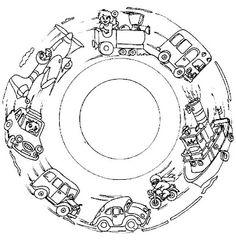 Mandala transport #mandala #mandalas #coloriage