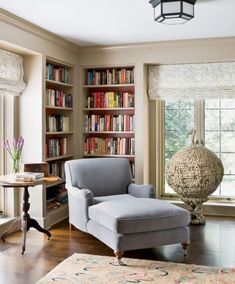Astonishing Reading Room Design Ideas For Your Interior Home Design 15 Small Living, Home And Living, Day Bed Living Room, Living Rooms, Living Room Seating, Apartment Living, Home Library Design, Library Ideas, Home Library Decor