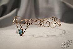 Elven Circlet, Medieval Crown, Wedding Tiara, Bridal Crown, Elven Headpiece Elena