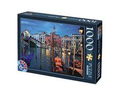 Puzzle D-Toys Canal del Puente Rialto, Venecia de 1000 Piezas