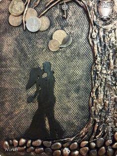 """Всем доброго времени суток! Это """"Денежное дерево"""" я сделала любимому сыну в подарок с посылом активации всех символов, присутствующих на панно. Спасибо за МК Раисе Филатовой """"Детям отказывать нельзя..."""" (http://stranamasterov.ru/node/852093?c=favorite) Размер панно-картины без рамки - 30 х 45 см. фото 10"""