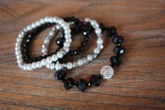 Black Pearl and Silver multistrand by AddSomeCharmBoutique on Etsy, $9.50