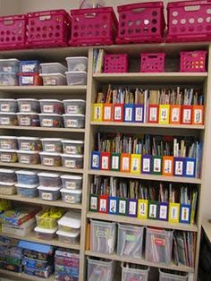 Organization for centers... I wish I could be this organized!!!