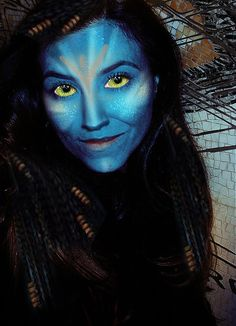 #avatar #halloween #makeup , it's all out ^_^