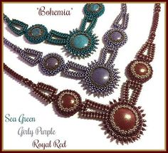 This is a 21 pages PDF instant download file on how to make the necklace Bohemia in English with easy to follow step by step diagrams and written instructions. The beads I used are TOHO for the main color and Miyuki for the contrast color brand. Also available as beading kit (beads