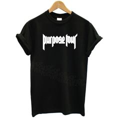 Justin Bieber Purpose Tour Crew-neck Tshirt Beiber Tshirt (€8,89) ❤ liked on Polyvore featuring tops, t-shirts, vinyl t shirt, matte jersey, jersey t shirts, vinyl top and justin bieber t shirt
