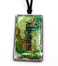 Polymer Clay and Resin Jewelry - savedbylovecreations. Love the layered look. And she embossed the polymer clay using sizzix folder after baking?? Gotta try that!!