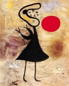 Joan Miro. See The Virtual Artist gallery: www.theartistobjective.com/gallery/index.html