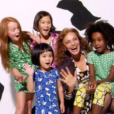 DVF loves Gap Kids and I heart DVF