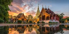 Phra Singh Waramahavihan Temple Chiang Mai Thailand 📷 by Countries To Visit, Cool Countries, Countries Of Asia, 7 Places, Places To Visit, World Architecture Festival, Fauna Marina, Elephant Nature Park, Miami Photos