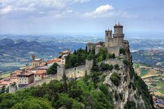 """The Guaita is a beautiful tower in San Marino. Also called """"Rocca"""" or """"The First Tower"""", it is one of the three towers located above the city of San Marino and it was built in the 11th century by the first inhabitants of Mount Titano."""
