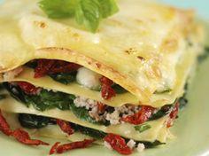 lasagne met spinazie en mozzarella
