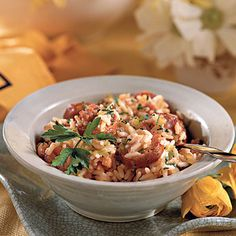 Creole Jambalaya | Smoked sausage, ham, and red pepper add bold flavor in this classic recipe for Creole Jambalaya.