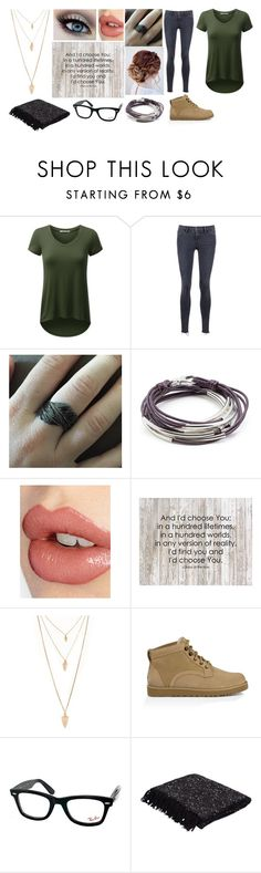 """""""Give yourself a chance"""" by troylerzalfie ❤ liked on Polyvore featuring Frame Denim, Lizzy James, Charlotte Tilbury, Forever 21, UGG Australia, Ray-Ban, Jaipur, women's clothing, women and female"""