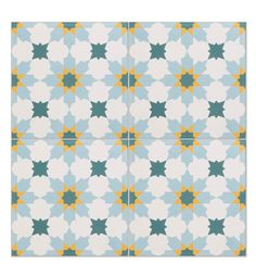Tangier encaustic tiles from Ca' Pietra. Colourful encaustic tiles made from cement.