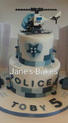Police lego cake