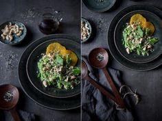 Blumenkohlreis-Salat mit Zuckerschoten